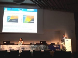 Mr. Pierluigi Busetto of Navalprogetti presenting the GASVESSEL project