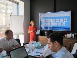 Oksana Pilatova of DOW giving her presentation